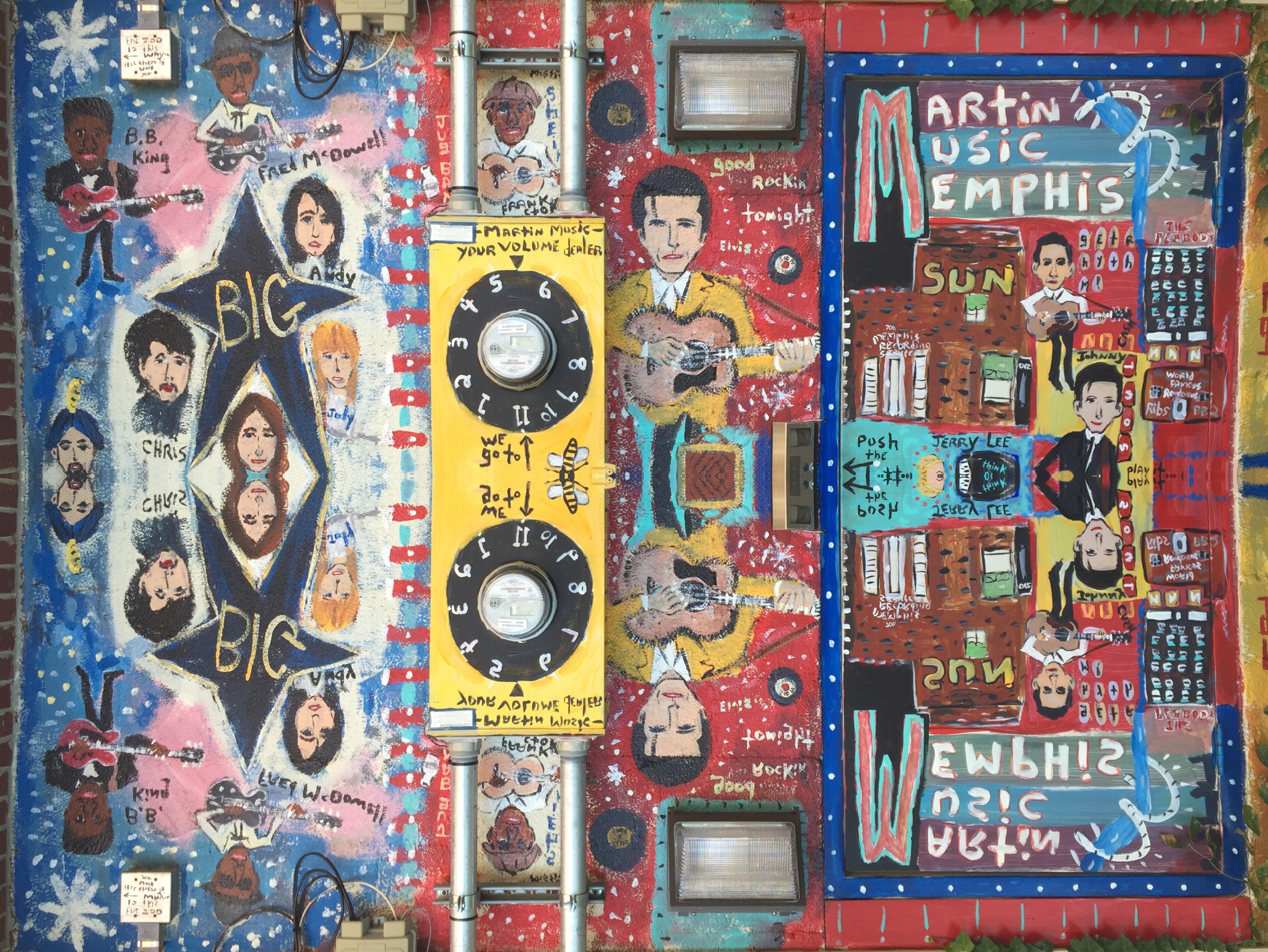 Memphis music mural